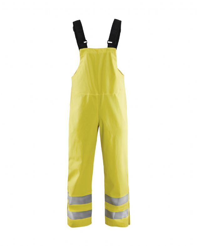 Blaklader Workwear | 1386 Rain Bib Trousers, Heavy Weight Extreme | High Visibility Clothing